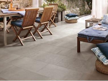 Pavimento/rivestimento in gres porcellanato effetto cemento per interni ed esterni MOON AG