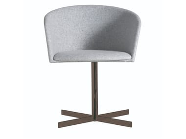 Upholstered fabric chair with 4-spoke base MOON LIGHT 663CRU
