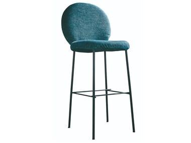 Medallion high fabric stool MOON | Stool
