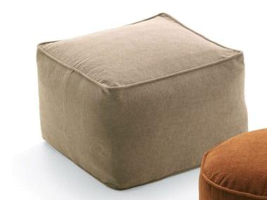Square fabric garden pouf MOON | Square garden pouf
