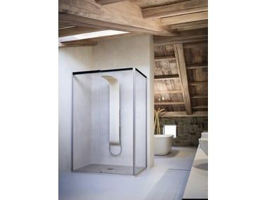 Shower cabin with sliding door MOOV TW+TL