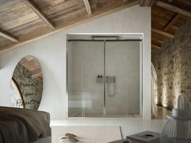 Niche shower cabin with sliding door MOOV TT