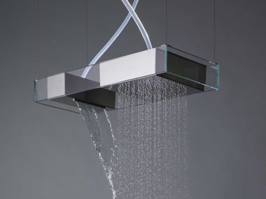 Ceiling mounted stainless steel overhead shower MOOVE | Ceiling mounted overhead shower