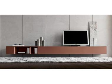 Mobile TV basso sospeso in legno MORE | Mobile TV