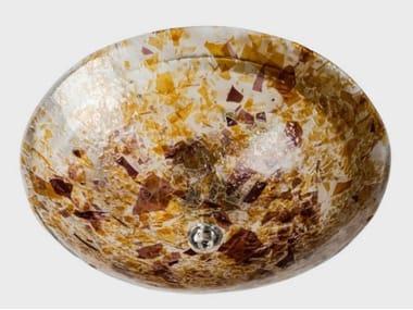 Plafoniera fatta a mano in vetro di Murano MORELLA | Plafoniera