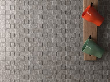 Porcelain stoneware mosaic METAL.IT | Mosaic