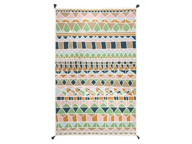 Rectangular fabric rug MOSAICO II KILIM