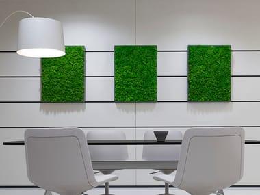 Pannello acustico a parete in piante stabilizzate MOSSO