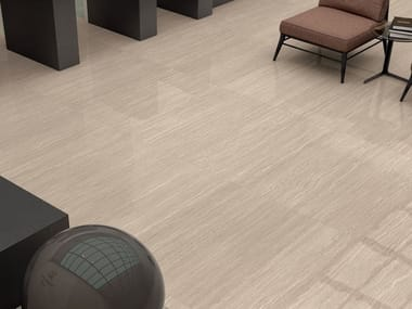Pavimento in gres porcellanato effetto marmo MOTIF EXTRA TRAVERTINO BEIGE