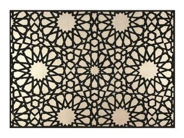 Handmade rectangular rug with geometric shapes MOUCHARABIEH