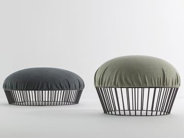 Upholstered fabric pouf MOVIE
