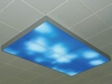 Lampada da soffitto a LED a luce diretta in alluminio MOVING SKY LED LIGHTING PANEL | Lampada da soffitto