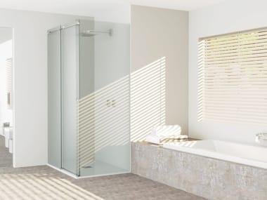 Cabina de ducha rectangulares de vidrio con puertas correderas MS SYSTEM