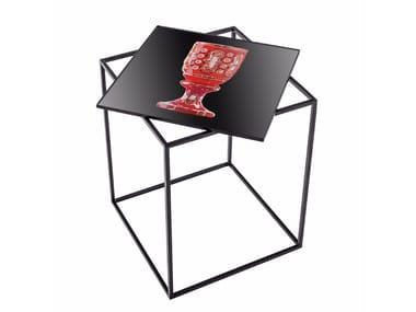 Tavolino alto quadrato in metallo MT-40
