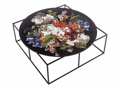 Low round metal coffee table MTD-90