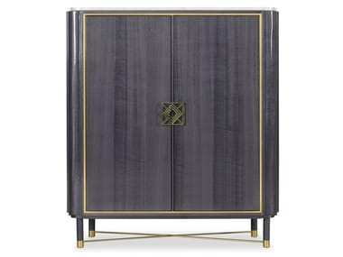 Lacquered wood veneer bar cabinet MULLIGAN | Bar cabinet