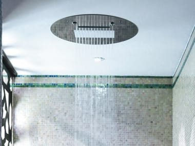 Ceiling mounted round overhead shower Multi – sensory shower head