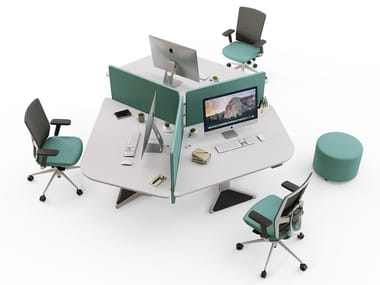 Multiple melamine office workstation POWER | Multiple office workstation