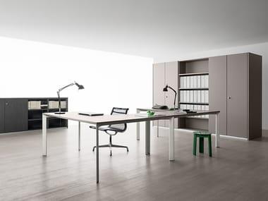 Multiple aluminium office workstation SHARD | Multiple office workstation