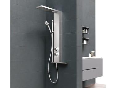 Duschsäule mit Brausekopf zur Wandmontage MUSA PLUS