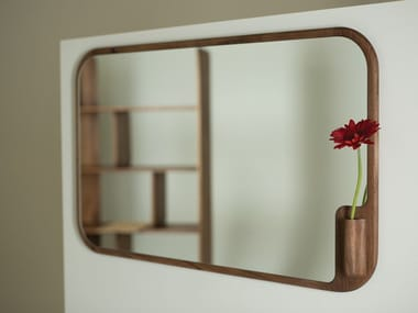 Framed solid wood mirror MUSE