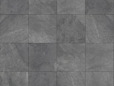 Outdoor floor tiles with stone effect MUSEO ARDESIA NERA