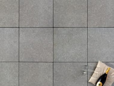 Outdoor floor tiles with stone effect MUSEO PIERRE BLUE GREY
