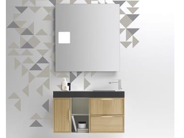 Mobile lavabo sospeso con cassetti MUTEVOLE 03