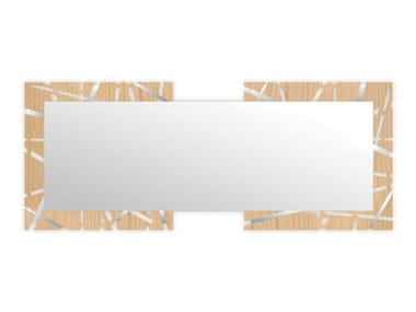 Rectangular wall-mounted framed mirror MW-095-SP | Mirror
