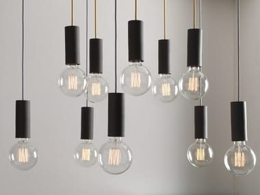 Direct light pendant lamp MY CILINDRO ANTRACITE