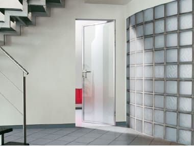 Hinged flush-fitting door MYA | Glass door