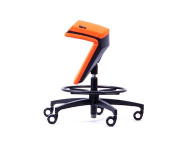 Fabric swivel chair with stand-up function KINEMA® ORANGE