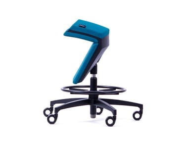 Fabric swivel chair with stand-up function KINEMA® PETROL