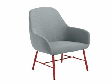 Fabric armchair with armrests MYRA 655