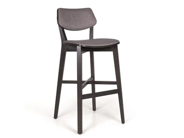 Upholstered solid wood barstool MYRANDA BAR