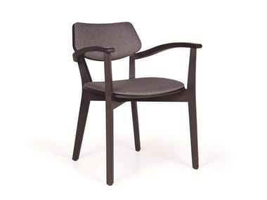 Upholstered solid wood chair MYRANDA CB