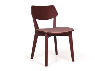 Upholstered solid wood chair MYRANDA EST PL