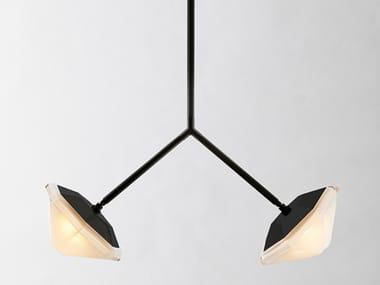 LED metal pendant lamp MYRIAD WISHBONE