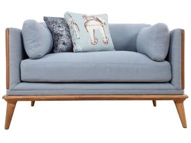 Fabric armchair with armrests MYSIG | Armchair
