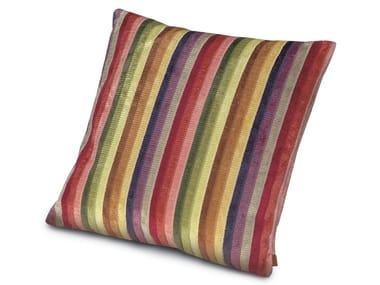 Striped velvet cushion MYSORE | Cushion