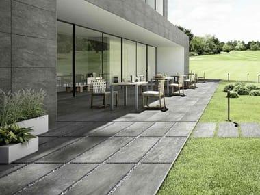 Pavimento per esterni in gres porcellanato effetto pietra MYSTONE PIETRA ITALIA 20 | Grigio