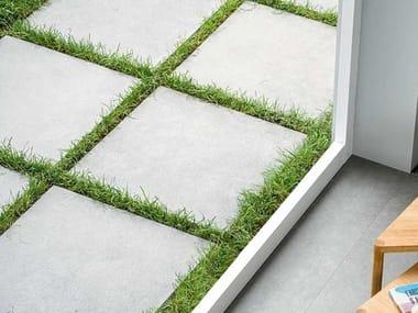 Pavimento per esterni in gres porcellanato effetto pietra MYSTONE SILVERSTONE 20 | Antracite