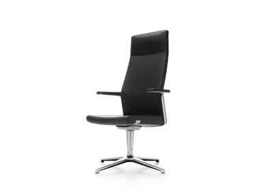 Executive chair with 4-spoke base with armrests MYTURN 10F/10FZ