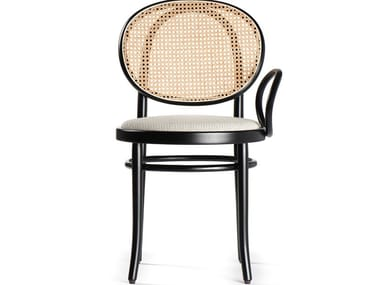 Wooden chair with Vienna straw backrest and one armrest N.0 | Chair