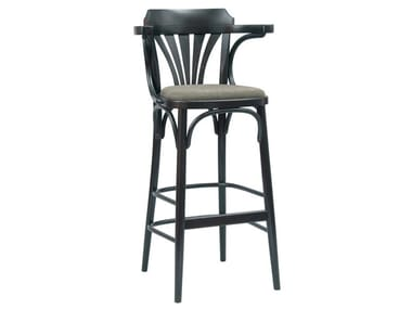 Stool with integrated cushion with footrest N° 135   Stool with integrated cushion