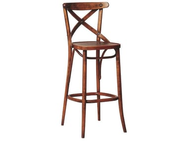 Wooden stool with back N° 150   Wooden stool