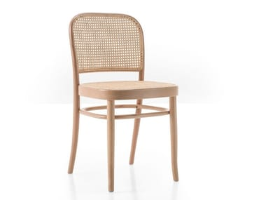 Beech and woven cane chair N. 811 | Chair