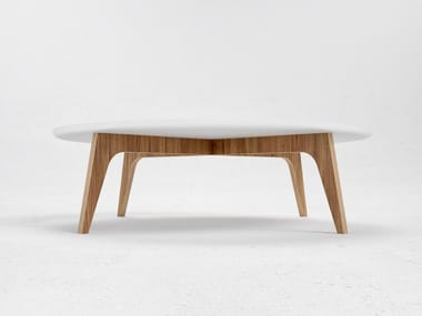 Low round coffee table N1