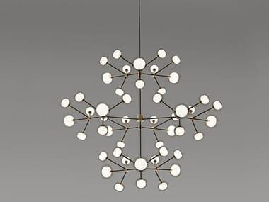 Direct-indirect light metal chandelier NABILA | Chandelier