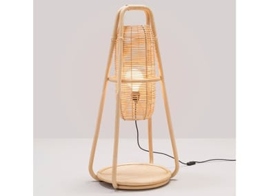 Rattan table lamp NACELLE | Table lamp